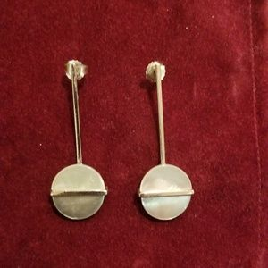 Jewelry - Silver Earrings with mother of pearl